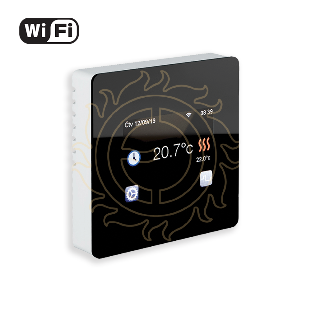 Termostat TFT Wifi (black)